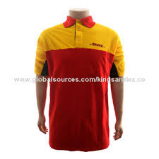 bureau dhl dhl s polo shirt with ribbed collar different panel cut sewing