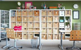 Large Storage Shelves by 20 Ideas For Storage With Baskets And Bins Midwest Living