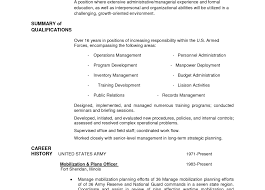 Day Care Experience On Resume Resume Military Resume Example Satiating Former Military Resume