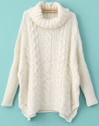 white sweater white sleeve turtleneck chunky cable knit sweater abaday com