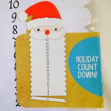 new christmas countdown advent calendar santa diy craft kit to