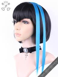 blue hair extensions clip in turquoise blue hair extensions pair steunk