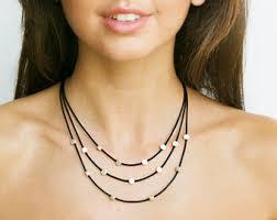 multi layered black necklace images Multi strand necklaces etsy jpg