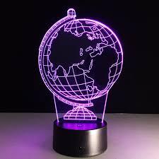 Small Desk Globe A Globe 3d L 7 Color Change Small Light Led Creative Desk