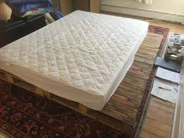 How To Make A Wood Pallet Platform Bed by Pallet Bed Pallet Furniture Diy Part 4