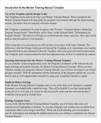 training manual format sample training manual 10 documents in pdf