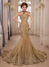 prom dresses 2015 mermaid gold naf dresses