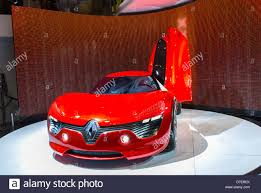 paris france renault corporation new car showroom inside store