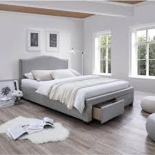Lit Pont Pas Cher Adulte by Price Factory Lit Adulte Design Olga En Tissu Gris 160x200 Cm