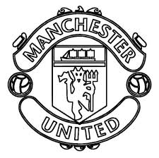 manchester united logo soccer coloring pages boys coloring pages