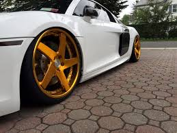 audi r8 gold r8 accuair f433 brushed gold bullion 5