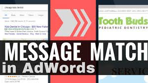 adwords message match keyword ad landing page key concept