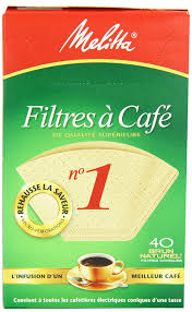 melitta cone coffee filters natural brown no 1 40 count