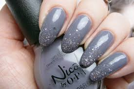 gray glitter nail art design nails pinterest glitter nails