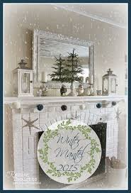 Winter Home Decor Fireplace Decorating Ideas Home Act