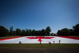 Giant Canadian Flag Canadians Come Together To Mark Canada Day Milestone 680 News
