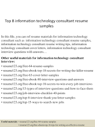 sample management consulting resume ideas collection information technology consultant sample resume ideas of information technology consultant sample resume with additional letter template