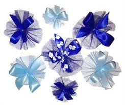 blue bows combination of royal blue and light blue bows includes 7 16 5 8