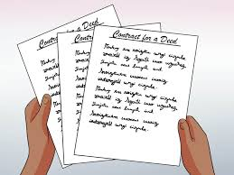 Sample Bill Of Sale Car by How To Write A Contract For A Deed With Free Sample Contract