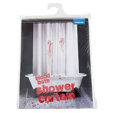 Funny Shower Curtains For Men by Amazon Com Spinning Hat Blood Bath Shower Curtain Home U0026 Kitchen