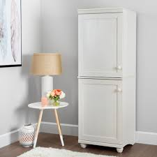 south shore storage cabinet south shore hopedale white wash 2 door narrow storage cabinet 10312
