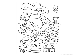thanksgiving table coloring pages getcoloringpages