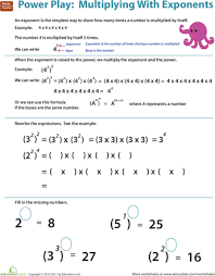 exponents worksheets for 5th grade worksheets