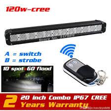 Discount Led Light Bars by Discount 20 U0027 U0027 120w Cree Led Light Bar Wireless Remote With Strobe