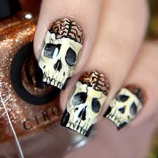 nail art halloween 1 0 glitterfingersss in english