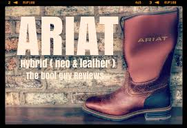 ariat hybrid all weather the boot guy reviews youtube