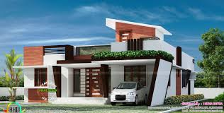 1653 sq ft contemporary one floor house kerala home design