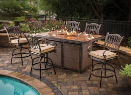Patio Bar Height Tables Balmoral Bar Height Table With Pit Pits Outdoor