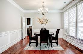 traditional dining room with wainscoting u0026 carpet in marietta ga