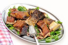 filets fumés de carpe cuisine monténégrine image stock image