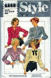 90s flounced romantic steampunk blouse sewing pattern mccall u0027s
