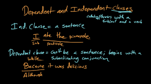 dependent and independent clauses video khan academy