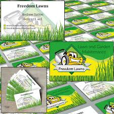 Mowing Business Cards Modern Masculine Business Card Design For Freedom Lawns By