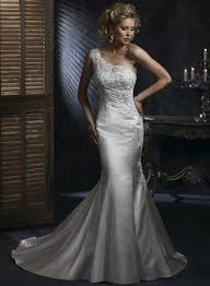 one shoulder wedding dresses 2011 one shoulder embellished lace mermaid trumpet wedding dress 2011
