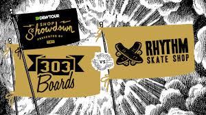 transworld motocross logo dew tour shop showdown 303 boardshop vs rhythm