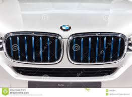 logo bmw bmw logo at front grill of x5 edrive editorial photo image 53655831