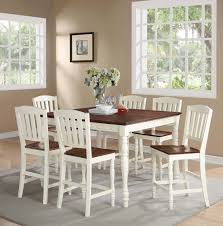 two tone dining room sets ramona white counter height dining set dining room sets