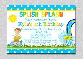 boys birthday boys pool waterslide birthday invitation waterslide