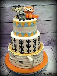 woodland friends baby shower cake baby shower cakes pinterest