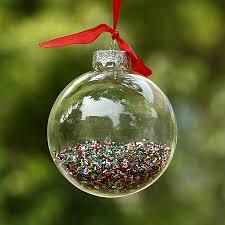 dia8cm clear glass balls silver top shiny glitter in glass