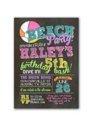 chalkboard beach birthday party invitation u2013 2 bird studios