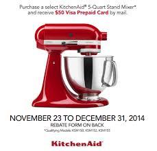 mixer black friday kitchenaid mixer rebate roselawnlutheran