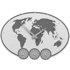 office wall clocks with different time zones home design ideas
