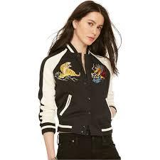 denim u0026 supply ralph lauren chest patch baseball jacket women u0027s
