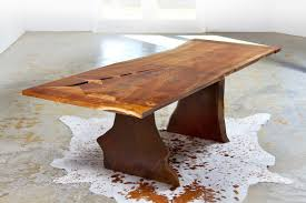 Slab Wood Table by Trend Slab Wood Dining Table 94 With Additional Home Improvement