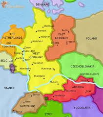 map of gemany map of germany at 1960ad timemaps